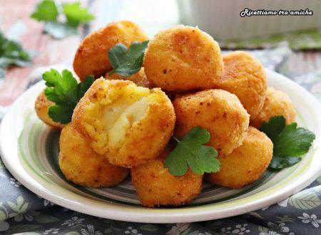 Polpette di riso e patate allo zafferano