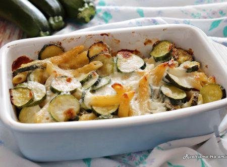 Pasta al forno con zucchine e besciamella