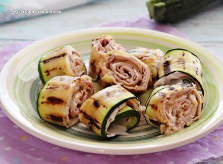 Rotolini di zucchine grigliate