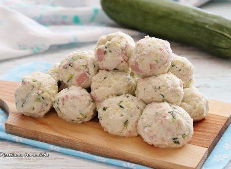 Polpette fredde di ricotta zucchine e prosciutto cotto
