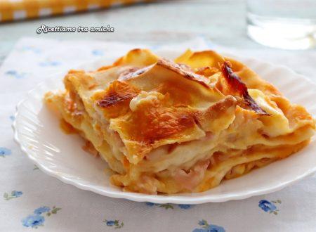 Lasagne cremose con zucca e prosciutto