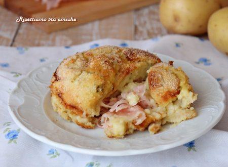 Tortino di patate con prosciutto e scamorza
