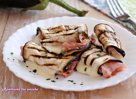 Involtini di melanzane con mortadella e formaggio