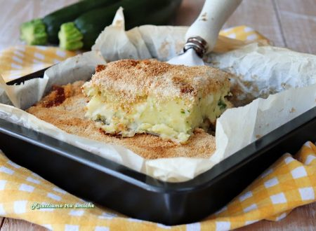 Sformato di patate e zucchine con scamorza
