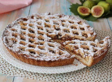 Crostata con marmellata di fichi e noci – con frolla all'olio