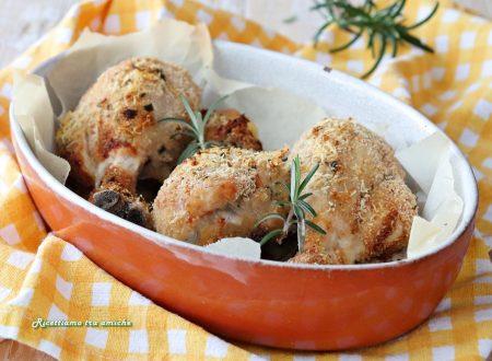 Cosce di pollo gratinate al limone