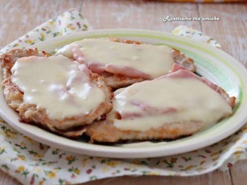 Scaloppine cremose con prosciutto cotto e formaggio