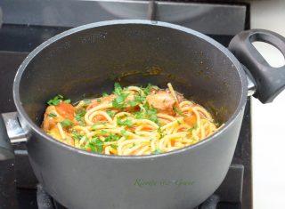 spaghetti con i moscardini