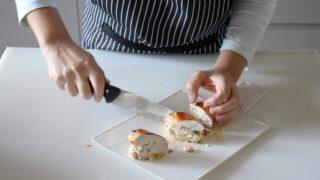 Petto di pollo con ricotta e funghi