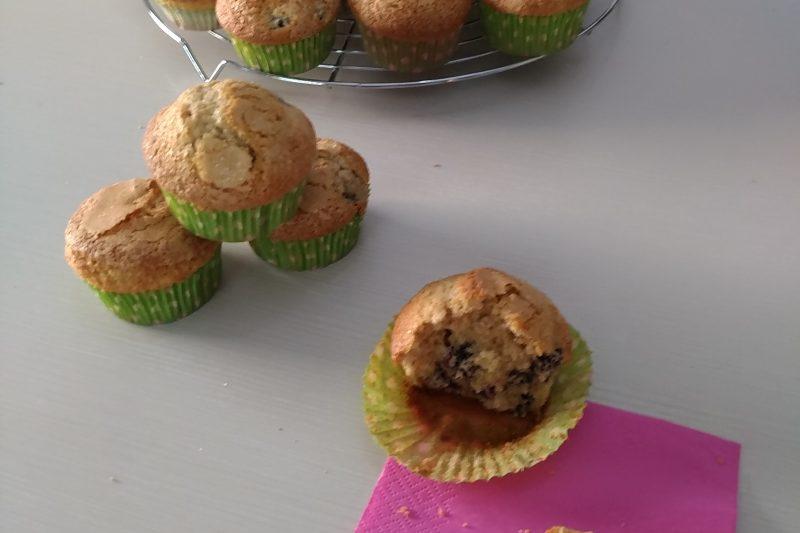 Muffins semi integrali alle more
