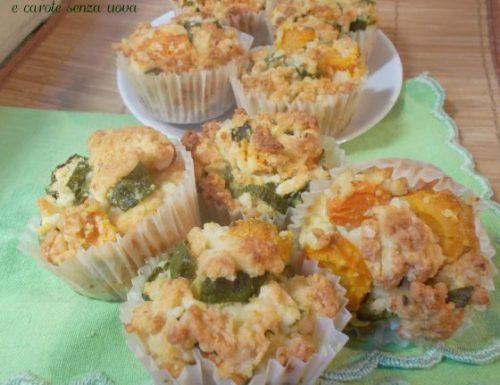 Muffin con zucchine e carote senza uova