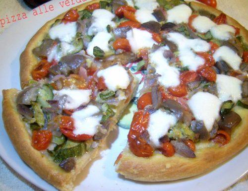 Pizza alle verdure con lievito madre