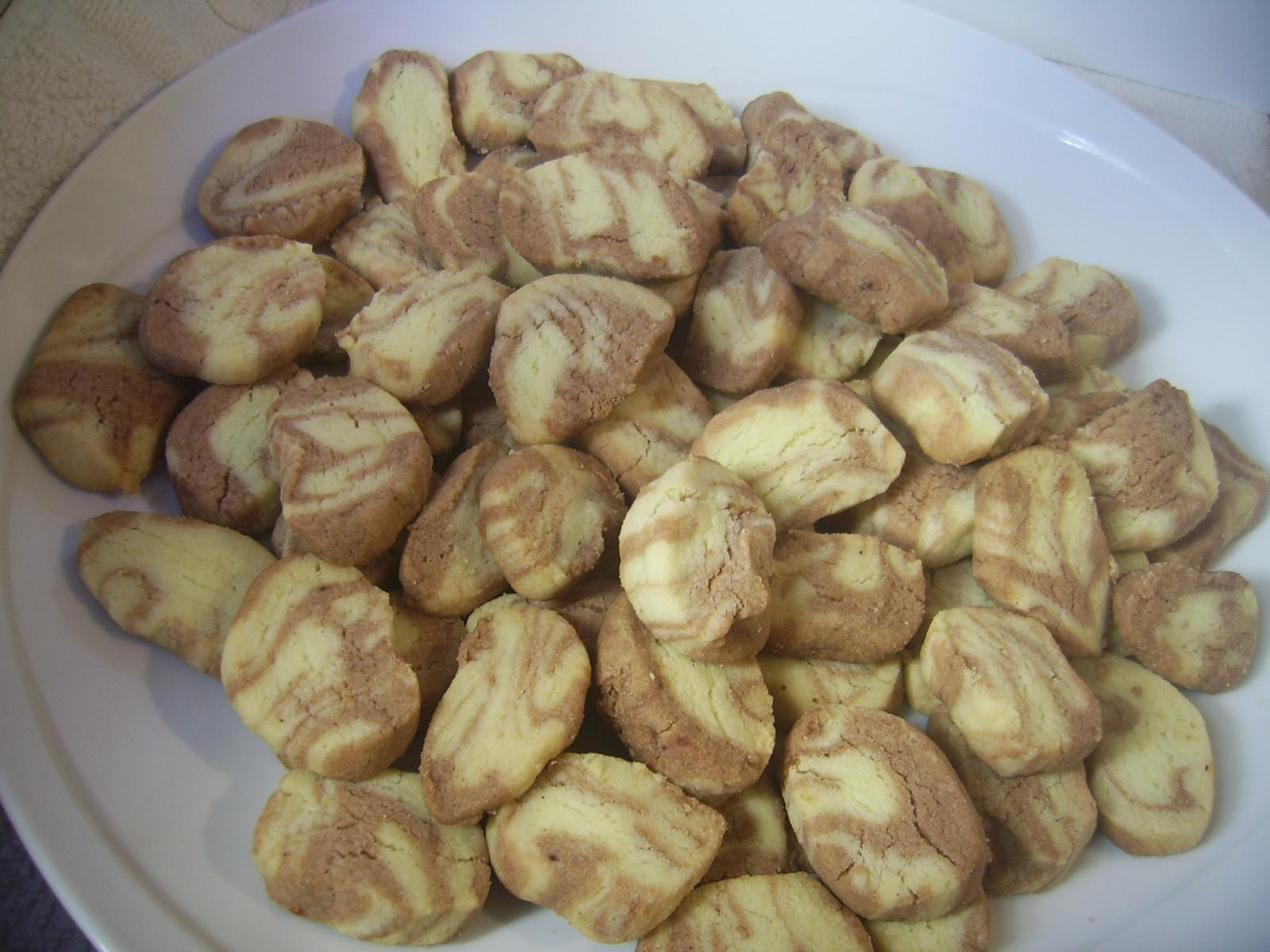 Biscotti marmorizzati