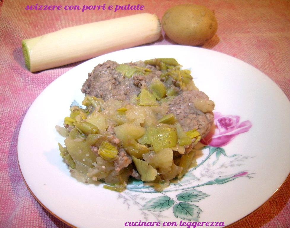 Svizzere con porri e patate for Cucinare diaframma