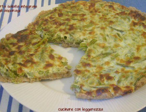 Torta salata integrale agli asparagi