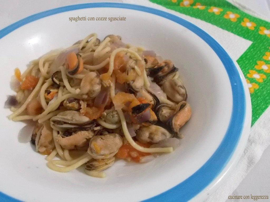 Spaghetti con cozze sgusciate