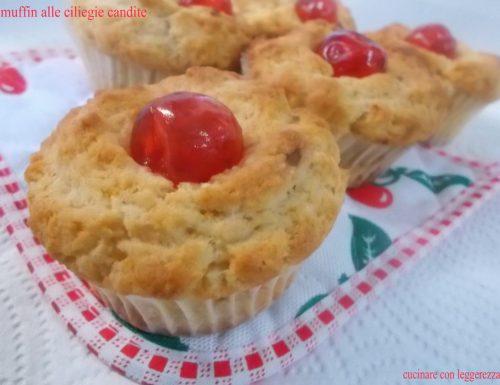 Muffin alle ciliegie candite