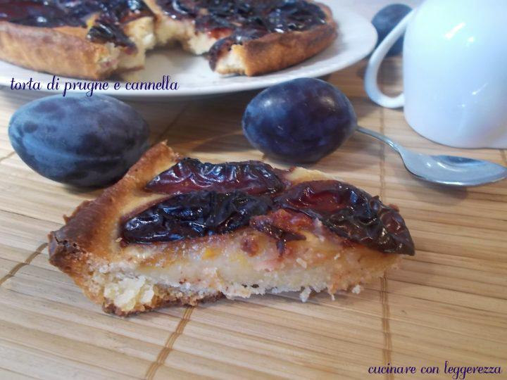 Torta di prugne e cannella - lievito madre