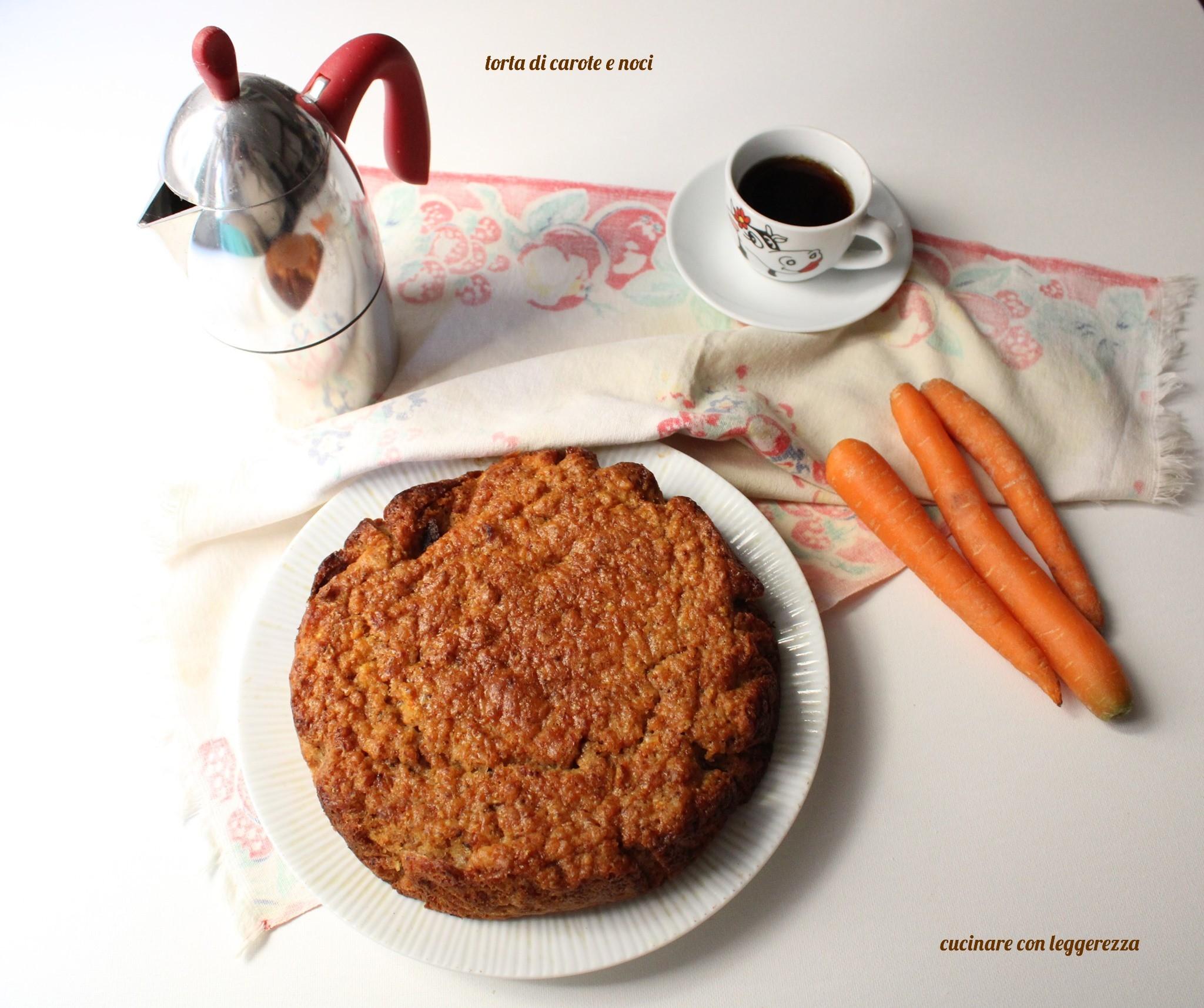 torta di carote e noci