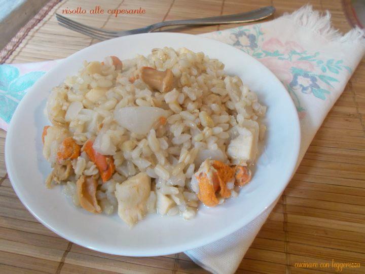 Risotto alle capesante cucinare con leggerezza for Cucinare risotto