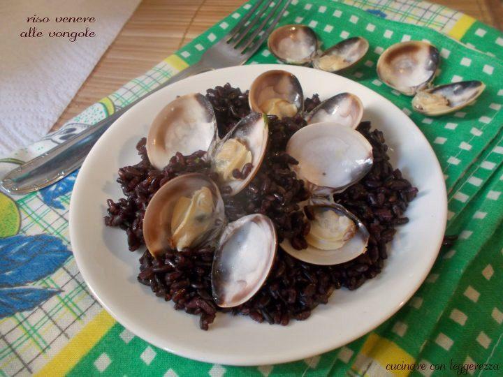 Riso venere alle vongole cucinare con leggerezza for Cucinare riso venere