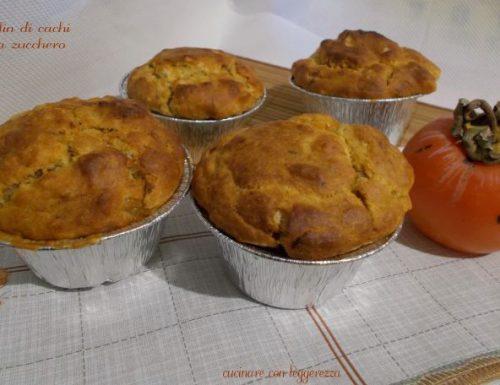 Muffin di cachi senza zucchero