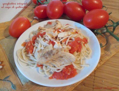 Spaghettini integrali al sugo di gallinella