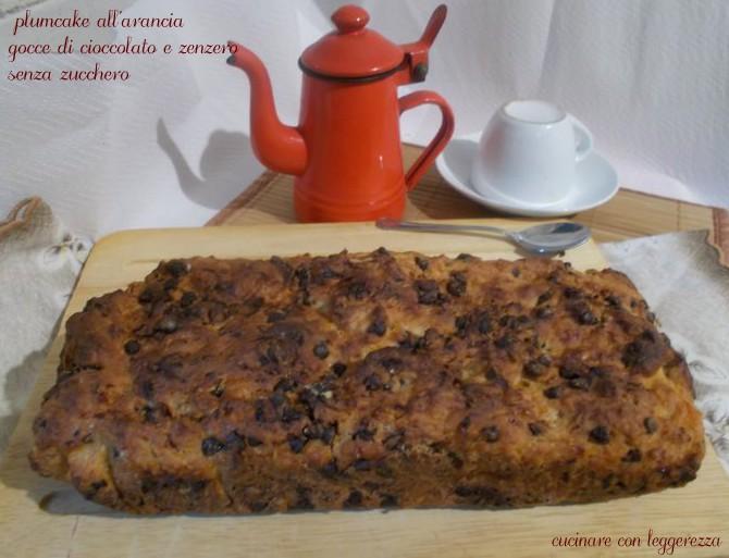 Plumcake all 39 arancia gocce di cioccolato e zenzero senza for Cucinare zenzero