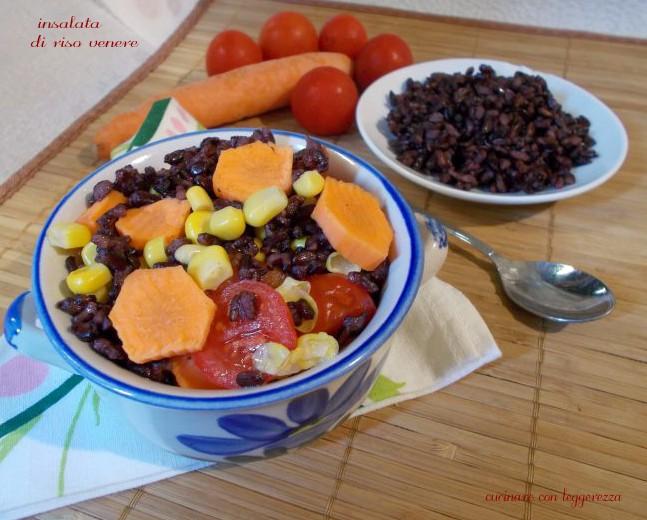 Insalata di riso venere cucinare con leggerezza - Cucinare riso venere ...