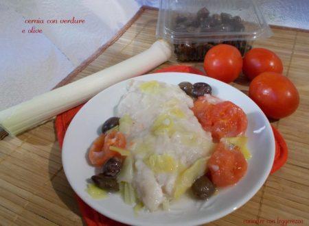 Cernia con verdure e olive