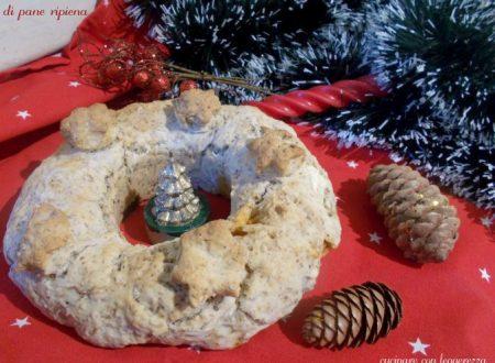 Ciambella di pane ripiena – centro tavola natalizio