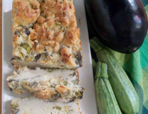 Plumcake tonno e verdure