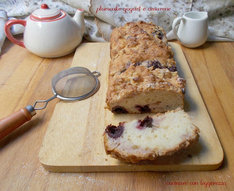plumcake yogurt e amarene cucinare con leggerezza