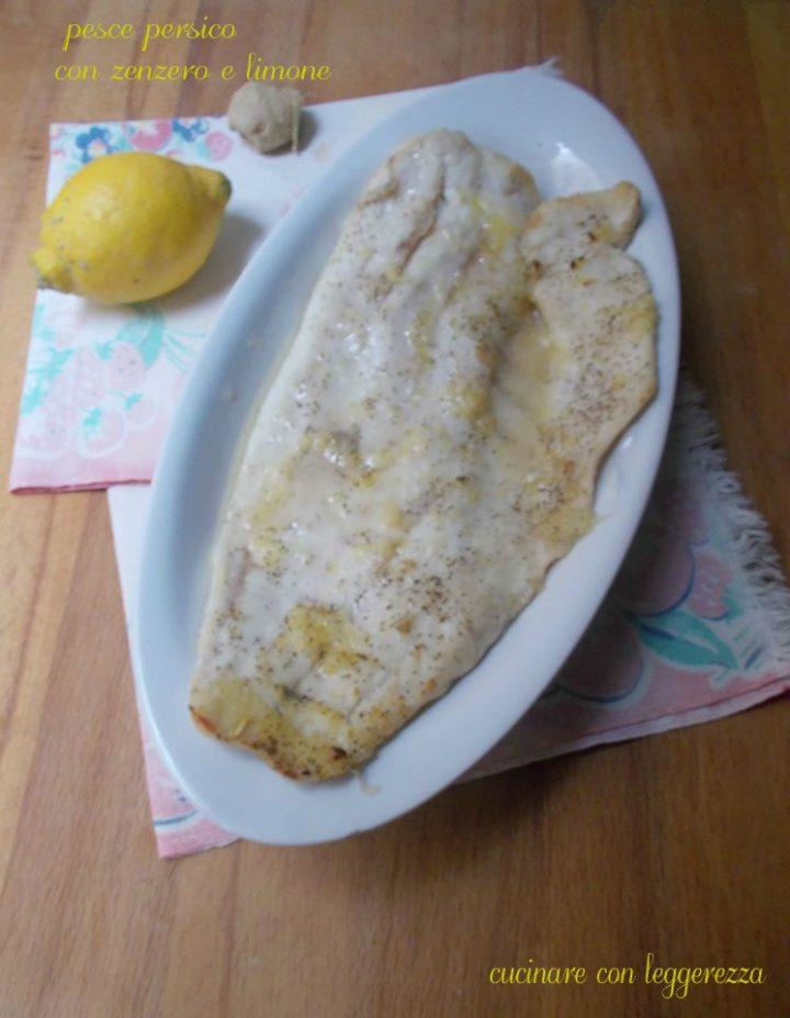 Pesce persico con zenzero e limone