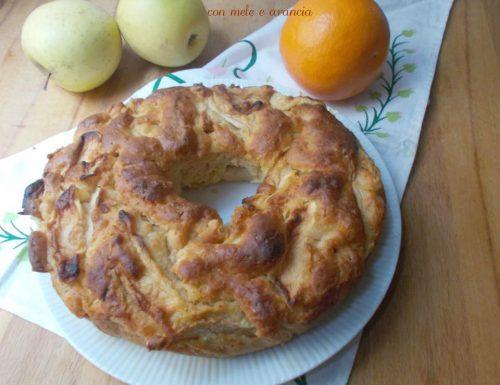 Ciambella di kamut con mele e arancia