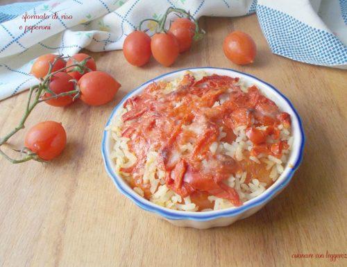 Sformato di riso e peperoni
