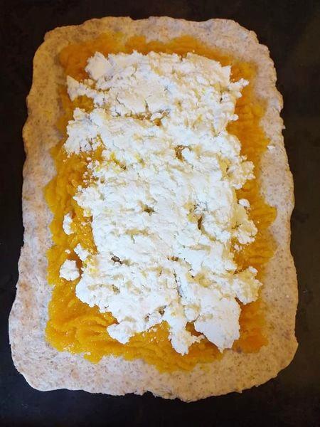 Pan brioche salato con zucca e ricotta