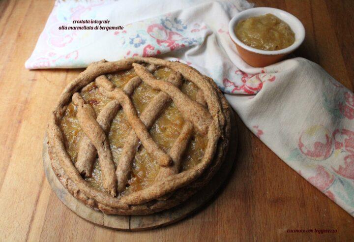 Crostata integrale alla marmellata di bergamotto