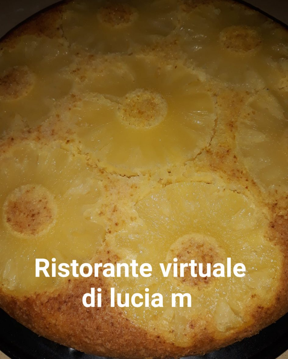 Torta semplice all' ananas