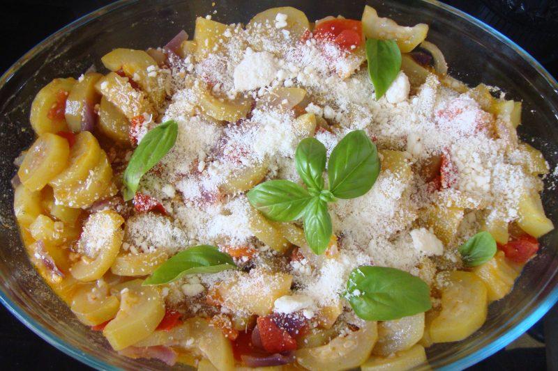 Zucchina Siciliana in umido in padella