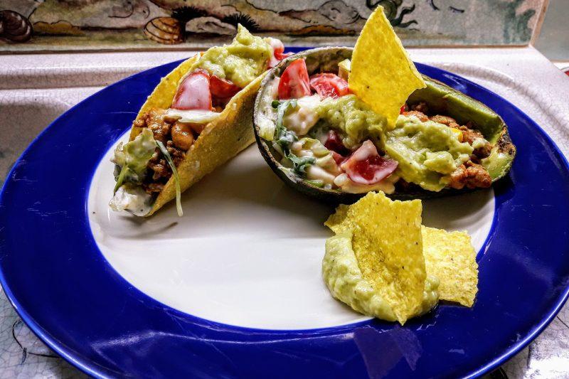 Tacos Messicani con salsa guacamole