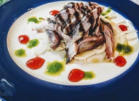 Tonnetto alletterato marinato con agrumi