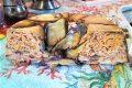 Ciambellone di melenzane tagliatelle e salsiccia