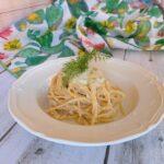 Spaghetti con crema di cavolfiore profumato