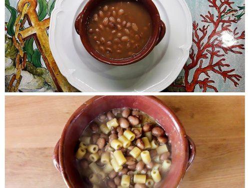 Zuppa e pasta e fagioli risottata