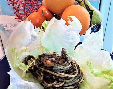 Spaghetti al sugo di nero di Seppia