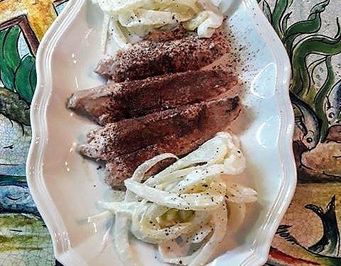 Filetti di pesce con mandorle e cacao