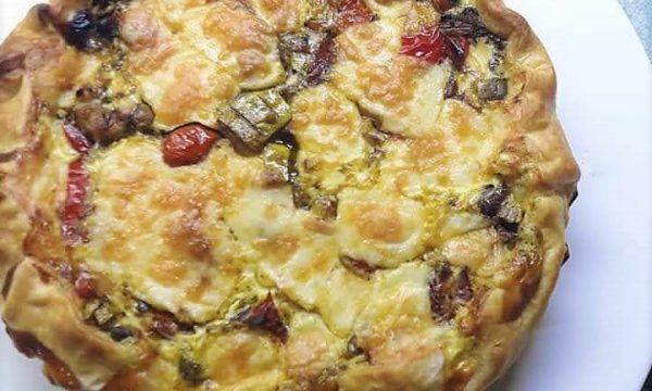 Torta salata di verdure in agrodolce