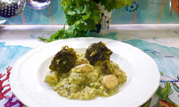 Gnocchi con crema o pesto di broccoli