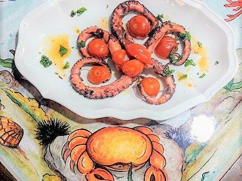 Polipetti con pomodorini ciliegino confit